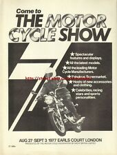 The Motor Cycle Show Motorcycle 1977 Magazine Advert #2171
