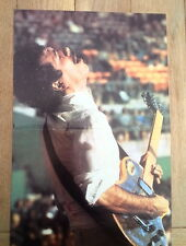 SANTANA 'head back in 1980s' Centerfold magazine POSTER  17x11 inches