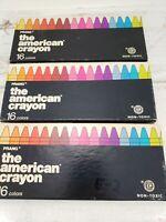 Lot of (3) Boxes of VTG Dixon Prang Crayons #253-16 American Crayon Company USA