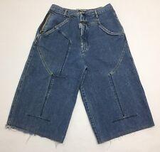 Vtg Marithe Francois Girbaud Stone Washed Denim Shorts W/ Zippers Sz 30 Rare