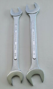 """Open End Spanners, Wrenches, 2pc SAE / Imperial 3/4"""" to 1"""" Forged Steel, Minimax"""