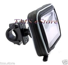 "Waterproof Case+Motorcycle Handlebar Mount for Garmin nuvi 1490 LMT 5""GPS WPC532"
