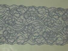 """purple Lilac stretch lace trimming fabric double scalloped trim  5"""" x 2 yards"""