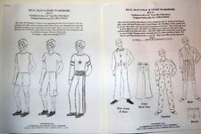 "Ng Creations Two Sewing Patterns Real Man Wardrobe fit 12"" Ken Doll Jeans Boxers"