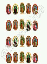 Guadalupe Nail Art (water decals) Virgin Mary Nail Decals