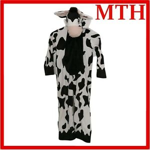 CHILDRENS COW PRINT COSTUME BOYS GIRLS FANCY DRESS KIDS OUTFIT Age 7-8