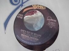 MICHAEL JACKSON GET ON THE FLOOR / SHES OUT OF MY LIFE ON EPIC RECORDS