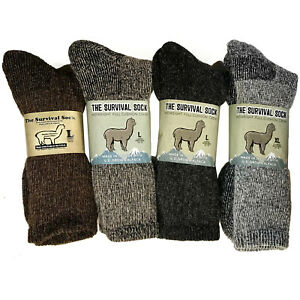 Alpaca Wool Winter Survivial Sock Made in the USA Natural Fiber Neutral Shade