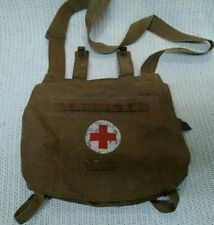 Vintage Military Red Cross Canvas Field Bag 1959? Good Cond. Swords Crossing 59