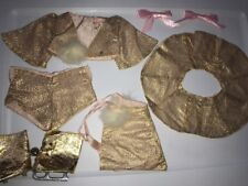 Terri Lee Doll Clothing Four Piece Gold Lame Ice Skating Outfit