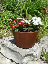 Blumentopf aus Metall 25cm Pflanzgefäß Edelrost Deko Garten konisch