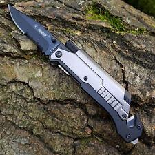 Rettungsmesser Messer Taschenmesser Klappmesser Rescue Knife Silber Led Lampe