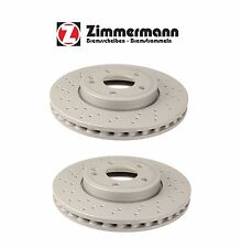 Mercedes CLA250 CLA45 AMG 14-16 Pair of Front Disc Brake Rotors Zimmerman Set