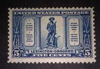 TRAVELSTAMPS: 1925 US Stamps Scott #619, The Minute Man, mint, mnh, og see scans