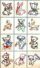 Animals for Children's clothing quilts pillows pictures 4044 Hand Embroidery