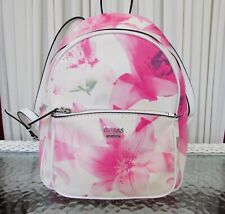 GUESS Pandore Backpack Pink Floral Shoulder Bag Purse With Tag