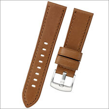 Horween HoneyBrown Leather Watch Strap with Stainless Steel Buckle #INS-HORPAN03