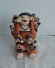 Native American Indian Clay Storyteller Sculpture Handmade and Painted