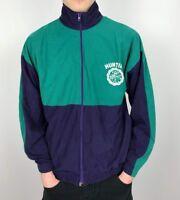 Vintage CANADA HUNTING Velour Track Jacket | 90s Sport Wavey | Medium M Green