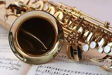 QUADRI MODERNI POSTER 100X70 SAX SASSOFONO JAZZ MUSICA BLACK SOUL NOTE MUSICALI