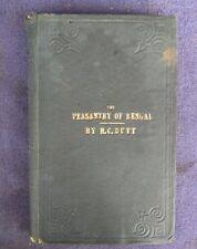 Rare First Edition The Peasantry of BengaL 1874 Cacutta  by R.C. Dutt