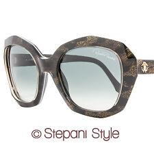 Roberto Cavalli Rectangular Sunglasses RC797S Alathfar 05B Black/Leopard 797