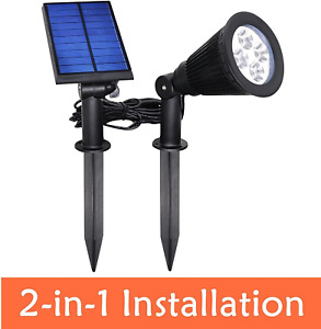 Yinghao [New Upgraded Version] Solar Outdoor Indoor Spot Light 2 In 1 Installati