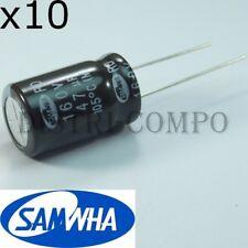 Condensateur 160V 47UF électrolytique 12.5x20mm RM5.08 Samwha (lot de 10)