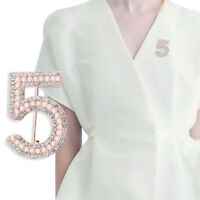 Carta 5 Broche de Cristal de Diamantes Imitación Broche Regalo Joyería de BoQA