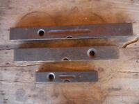Carpenters Antique Lot of 3 Levels Stanley & Akron Wood Vintage Tools Shop