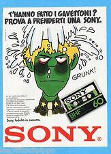 QUATTROR983-PUBBLICITA'/ADVERTISING-1983- SONY - CASSETTE BHF