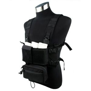 TMC Modular Lightweight Chest Rig Full Set (Black) TMC3115-BK