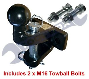Ball & Pin Towing Coupling and bolts 3.5 ton Black Tow Ball Tow Hitch Tow Jaw