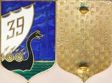 39° Régiment d'Infanterie, émail, ciel bleu foncé, Drago (1947) (7679)