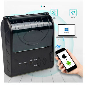 80mm Bluetooth Thermal Printer Receipt Barcode Printer for Android IOS Iphone