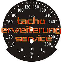 BMW E60 E61 E63 E64 Tacho Erweiterung 300 330 kmh speedometer extension service