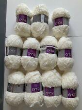 Crea crafts grisaille fog  wool yarn knitting/crochet 11 x 25 g balls freepost
