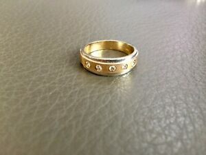 MENS WHITE/YELLOW SOLID 14K GOLD 0.5 PT NATURAL DIAMOND WEDDING BAND SIZE 8-9.