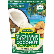 Let's Do Organic, 100% Organic Unsweetened Shredded Coconut - Edward & Sons