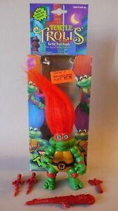 Vintage 1992 TMNT Troll Raph Complete Accessories & Card Mutant Ninja Turtles