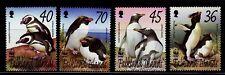 SELLOS TEMA WWF FALKLAND 2002 831/34  ANIMALES MARINOS . PINGUINOS 4v.