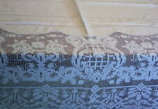 White Linen & Lace Vintage Tablecloth Starched Ready to Use 180 x 140cm