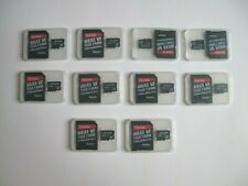 Lot of 10 - SanDisk 8GB microSD memory cards with microSD Adapter + BONUS