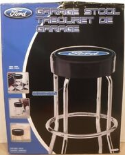 Plasticolor Ford Blue Oval Garage Stool #004751R01 Chrome-Platted Legs Mancave