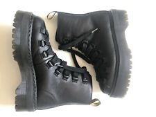DOC MARTENS DOUBLE HEIGHT CHUNKY HIKING STYLE LACE BOOTS