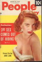 People Today Digest August 25 1954 Abbe Lane Cheesecake Pin Up 091318AME