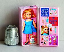 Dollhouse Miniature   Chatty Cathy Doll Box 1960s  dollhouse girl toy 1:12 scale