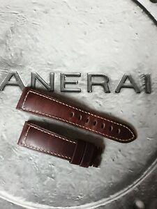OFFICINE PANERAI OEM 22mm BROWN CALF PV RADIOMIR STRAP FOR TANG BUCKLE