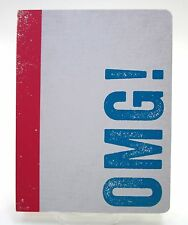 "GRAPHIQUE de FRANCE Notebook ""OMG!"" ~ 88 Lined Pages ~ Size 8.5 x 6.5 ~ New"