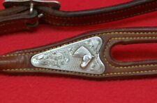Vintage * Sterling * Silver * Mounted * Headstall * Marked